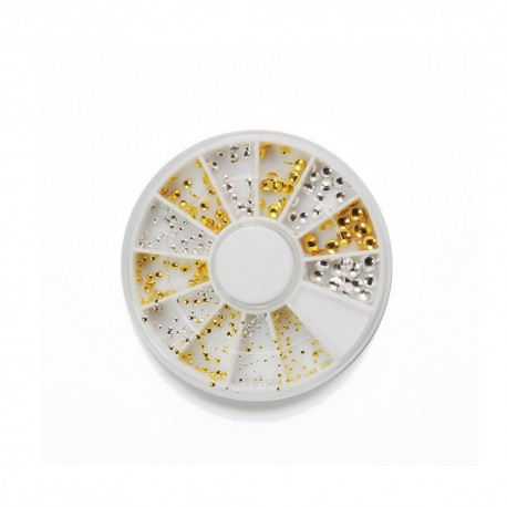 ROUE CLOUS RONDS MULTI TAILLE OR & ARGENT