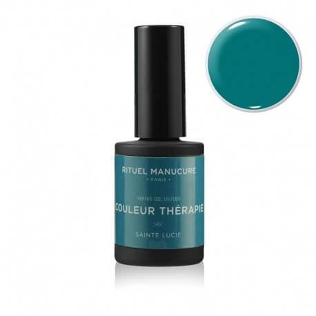 Sainte Lucie - Vernis permanent vert turquoise - Rituel Manucure
