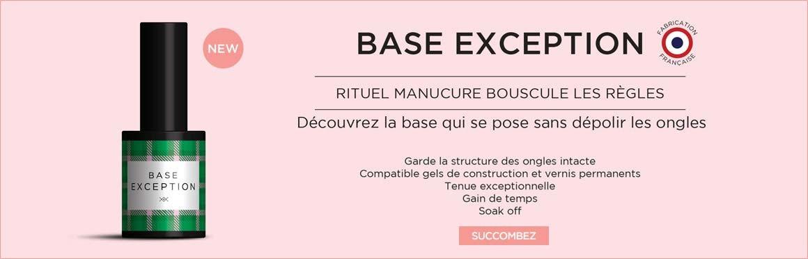 Rituel Manucure - Découvrez la base EXCEPTION sans limage