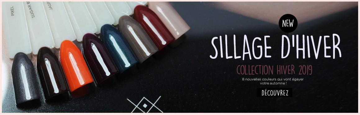 Collection vernis permanent hiver 2019 - 8 couleurs semi permanent