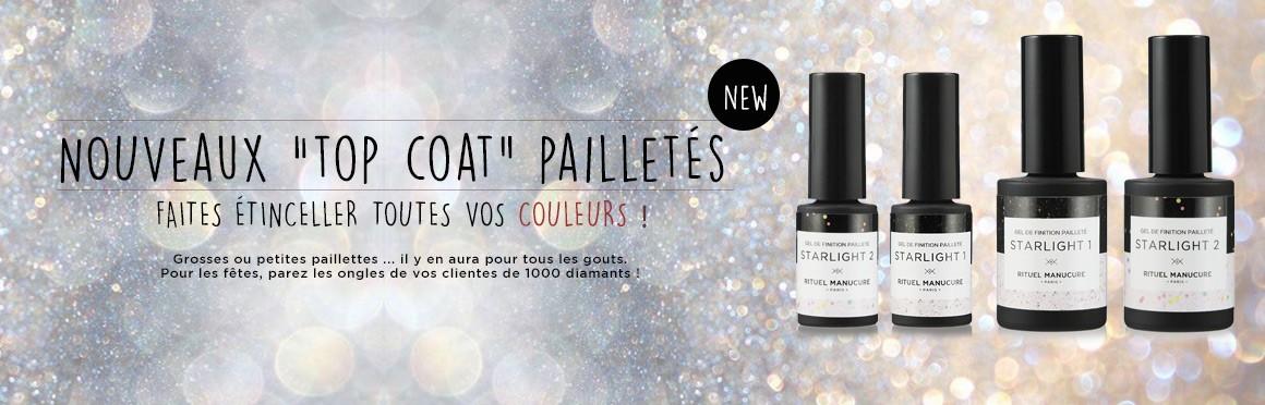 Top coat pailleté - illuminer les ongles de vos clientes !
